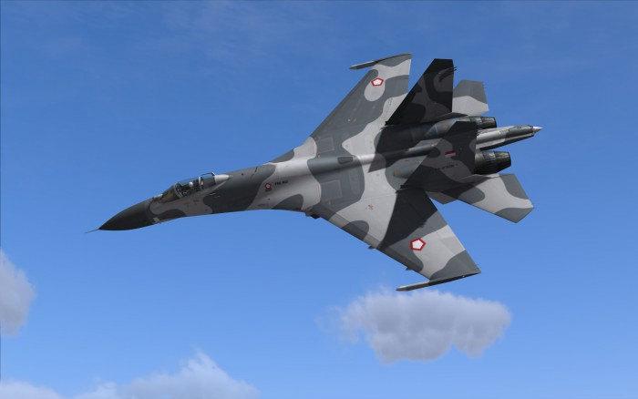 pesawat tempur Su-27 Flanker